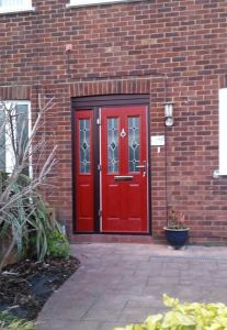 Red Composite door & sidescreen
