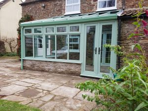 Chartwell Green Conservatory with Active glass roof