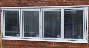 Bifolding Window with integral blinds