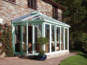 Edwardian Style Conservatory with Full Glass Panels