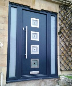 Inox Glazed Contemporary Composite Door